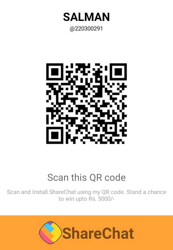 কেক - SALMAN @ 220300291 DIZ : Scan this QR code Scan and Install ShareChat using my QR code . Stand a chance to win upto Rs . 5000 / ( ShareChat - ShareChat