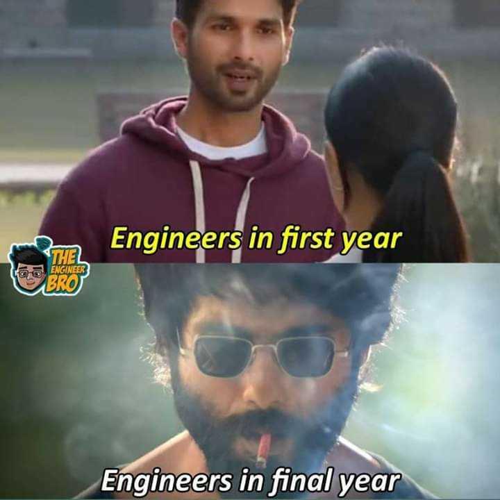 কেরিয়ার - Engineers in first year THEL ENGINEER BRO Engineers in final year - ShareChat