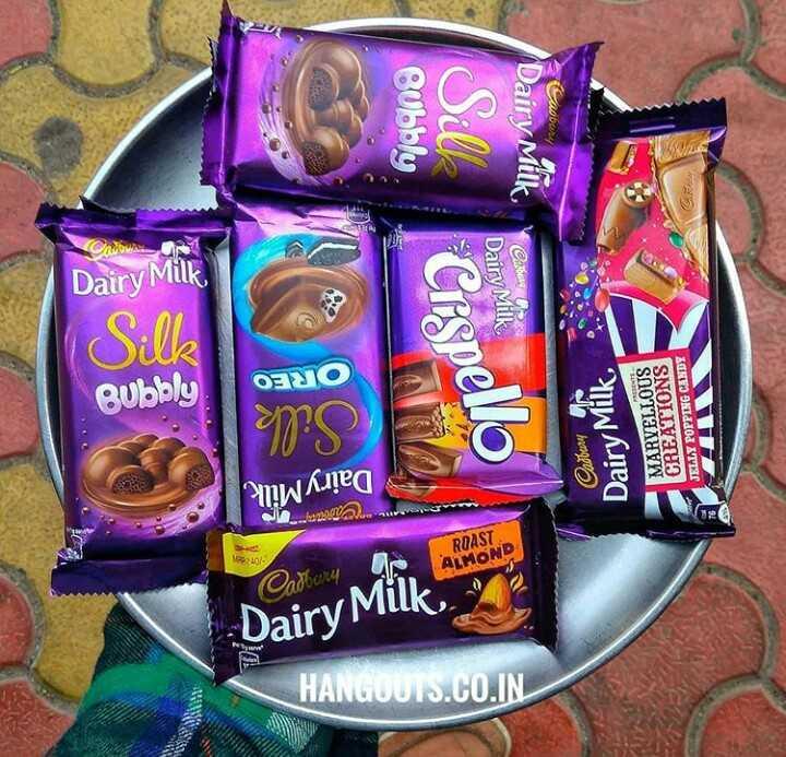 চকলেট  🍫 - c Bubbly . Cadbury Dairy Milk il Chrown Dairy Milk CESP Car TK Dairy Milk Silk Bubbly OREO MARVELLOUS CREATIONS JELLY POPPING CANDY Dairy Milk Cadbury Dairy Milk . . ma . Nee ROAST ALMOND Cadbury Dairy Milk HANGOUTS . CO . IN WWW - ShareChat