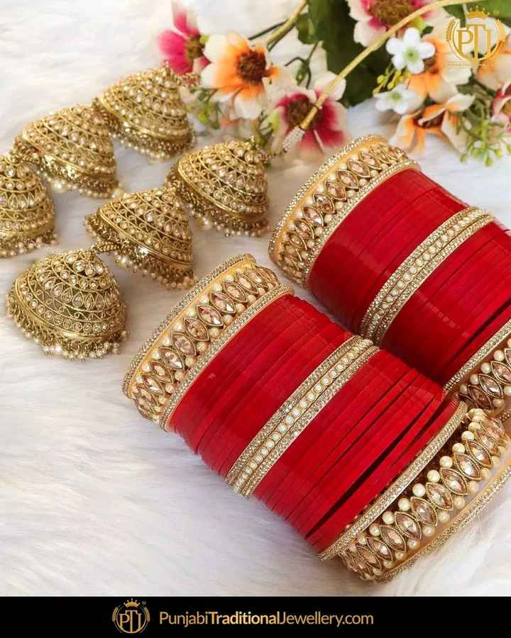 চুড়ি ডিজাইন  📿 - MORENA AT 2 DERM 23 SOLO Punjabi TraditionalJewellery . com - ShareChat