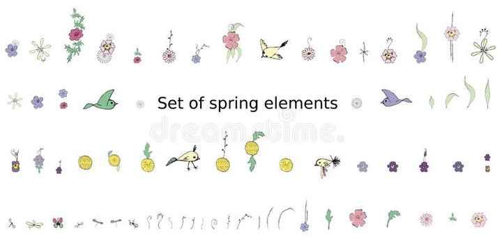 চৰাই চিৰিকতি - * ul * Set of spring elements o - ShareChat