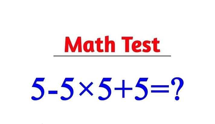 📰জেনারেল নলেজ - Math Test 5 - 5x5 + 5 = ? - ShareChat