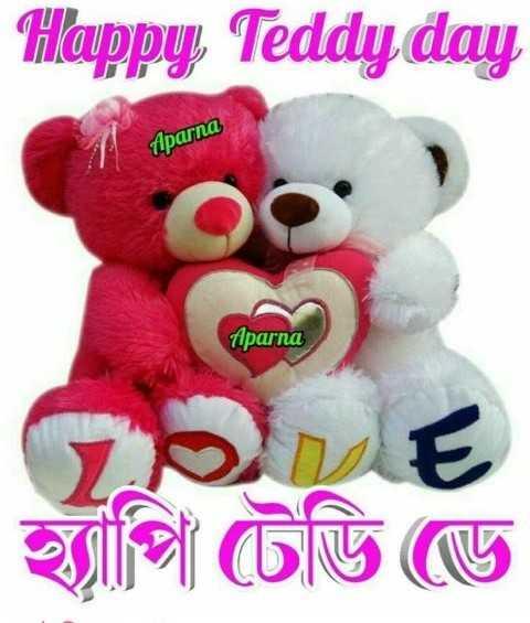 টেডি Day 🧸 - Happy , Teddy day Aparna parno DE হ্যাপি টেডি ডে - ShareChat