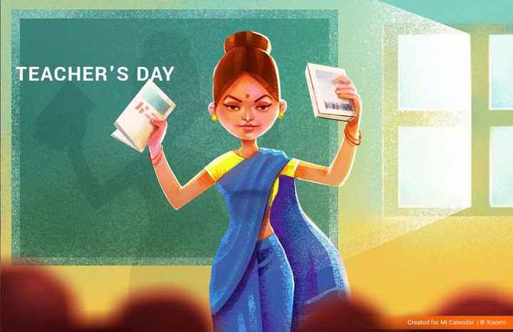 ড° সৰ্বপল্লী ৰাধাকৃষ্ণণনক সোঁৱৰিছো - TEACHER ' S DAY Created for Mi Calendar | © Xiaomi - ShareChat