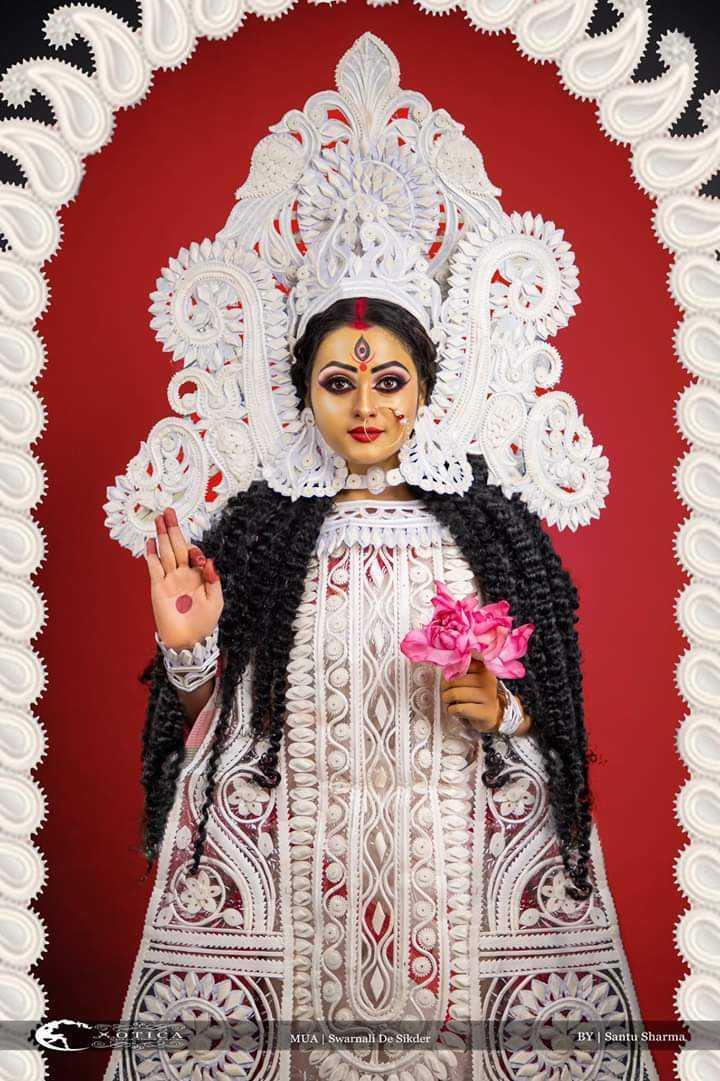 দূর্গা পূজা Countdown 🕑 - YUXUL MUA Swarnali De Sikder BY | Santu Sharma - ShareChat