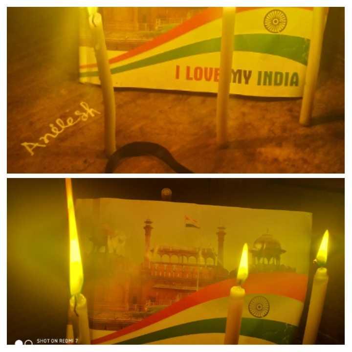 🙏 পুলওয়ামার কালো দিন 🙏 - I LOVE MY INDIA Anilesh SHOT ON REDMI 7 - ShareChat