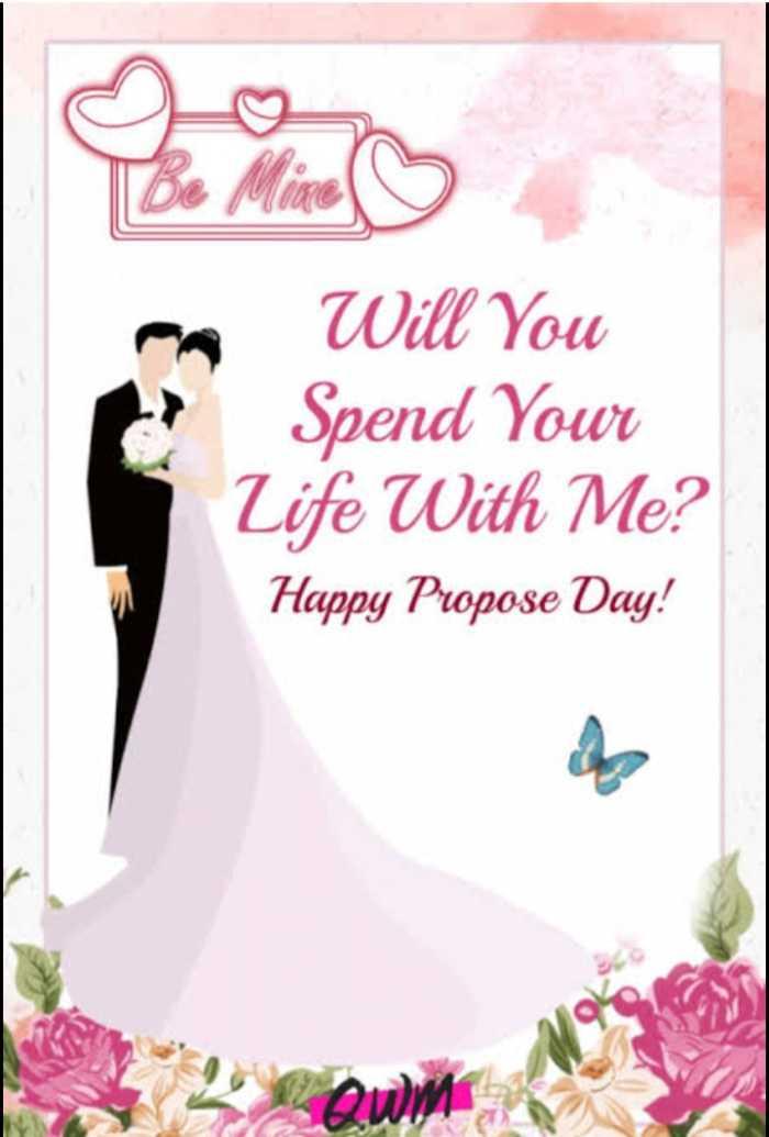 প্রপোস ডে 💍 - Will You Spend Your Life With Me ? Happy Propose Day ! - ShareChat