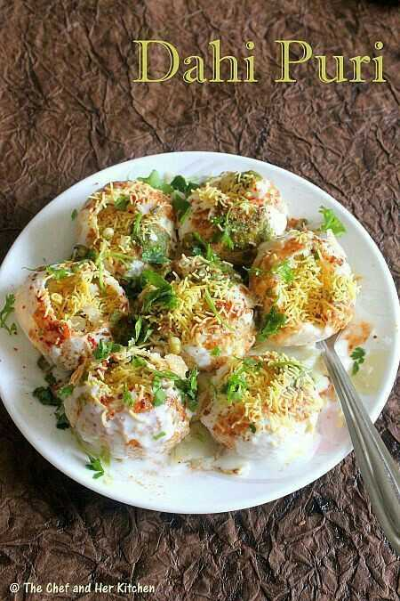 ফুচকা 🍪 - Dahi Puri © The Chef and Her Kitchen - ShareChat