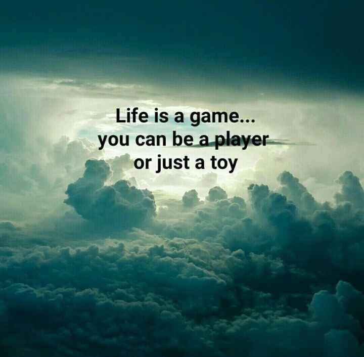 বঙ্গ সাহিত্য - Life is a game . . . you can be a player or just a toy - ShareChat