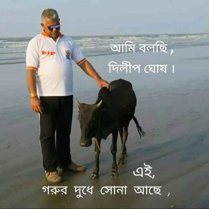 বিজেপি - BJP - be আমি বলছি । দিলীপ ঘােষ । * 4 এ এই , গরুর দুধে সােনা আছে । ' - ShareChat
