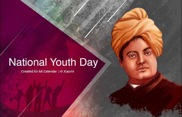 🙏 বিবেকানন্দ জন্মবার্ষিকী 🙏 - National Youth Day Created for Mi Calendar | © Xiaomi - ShareChat