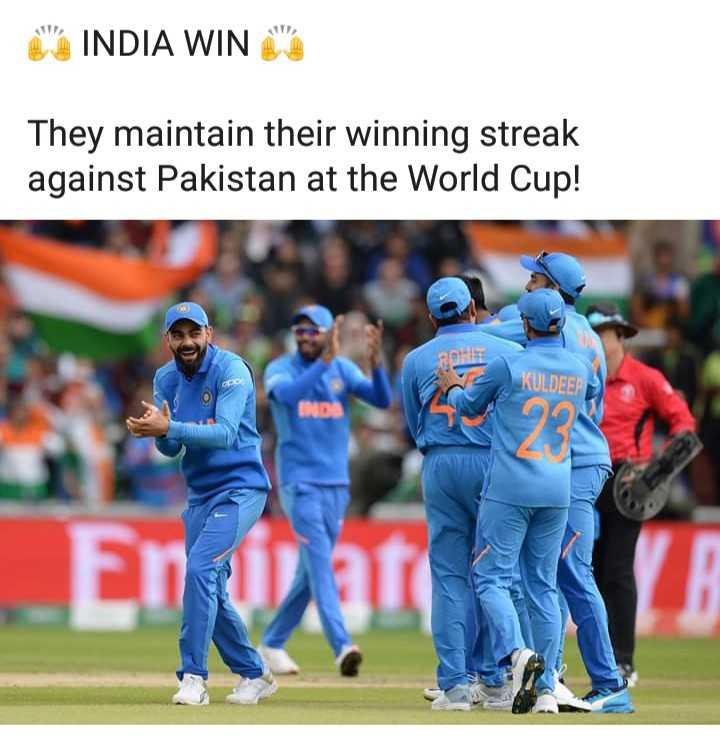 বিশ্ব কাপ বিশেষ মুহুৰ্ত - INDIA WING They maintain their winning streak against Pakistan at the World Cup ! ROHS KULDEEP En jati - ShareChat