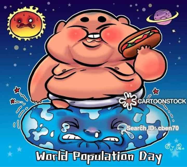 বিশ্ব জনসংখ্যা দিবস  👨👩👧👦 - SS CARTOONSTOCK Search ID : cben70 Oy on * * World Population Day - ShareChat