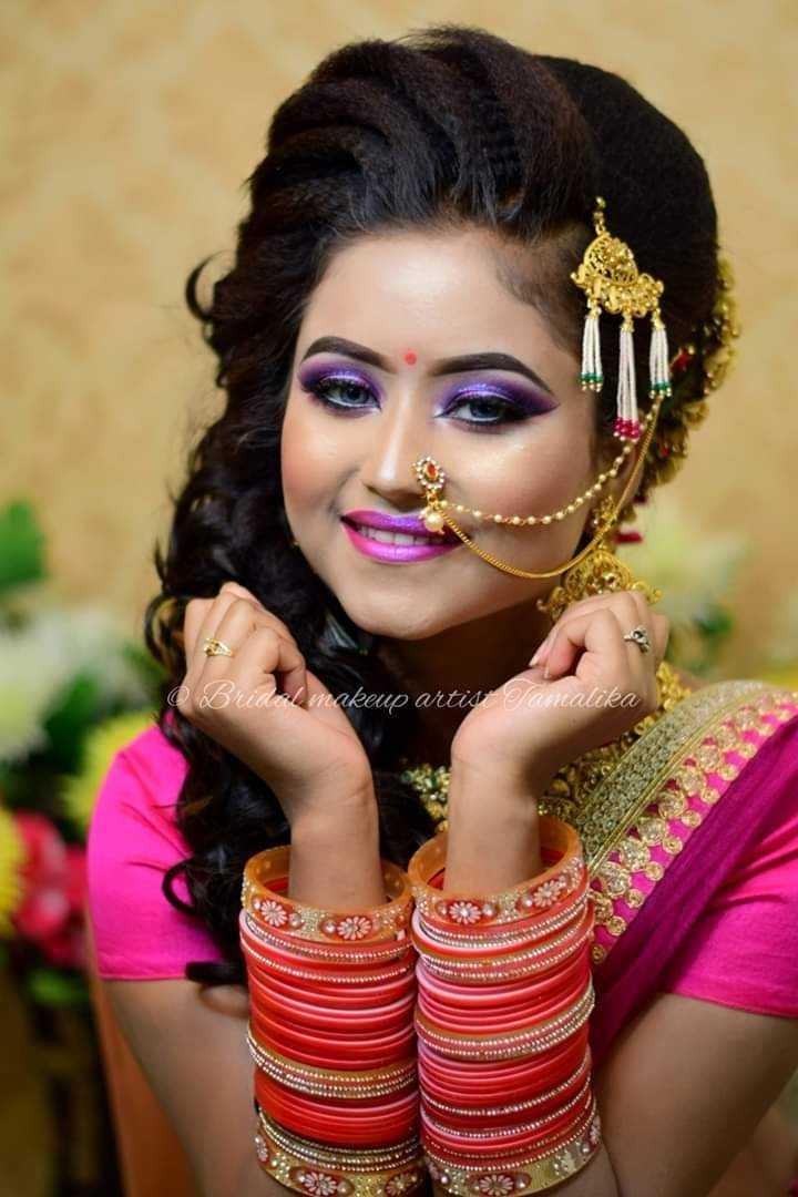 বিয়েবাড়ির সাজ - Bridal makeup artist famalika - ShareChat