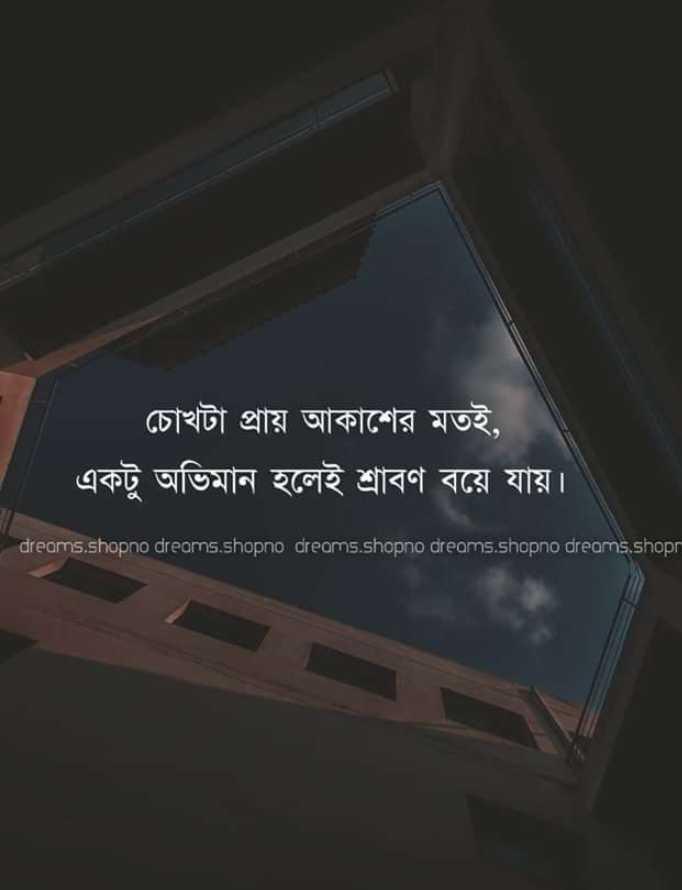 💔ভগ্নহৃদয় শায়েরি - চোখটা প্রায় আকাশের মতই , একটু অভিমান হলেই শ্রাবণ বয়ে যায় । dreams . shopno dreams . shopno dreams . shopno dreams . shopno dreams . shop - ShareChat