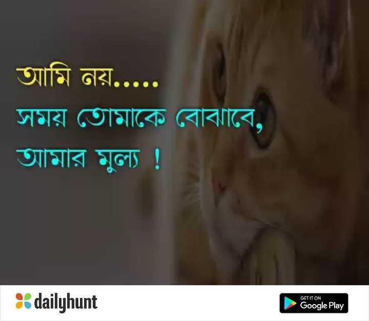 💔ভগ্নহৃদয় শায়েরি - | আমি নয় . . . . . সময় তােমাকে বােঝাবে , আমার মুল্য ! GET IT ON dailyhunt Google Play - ShareChat