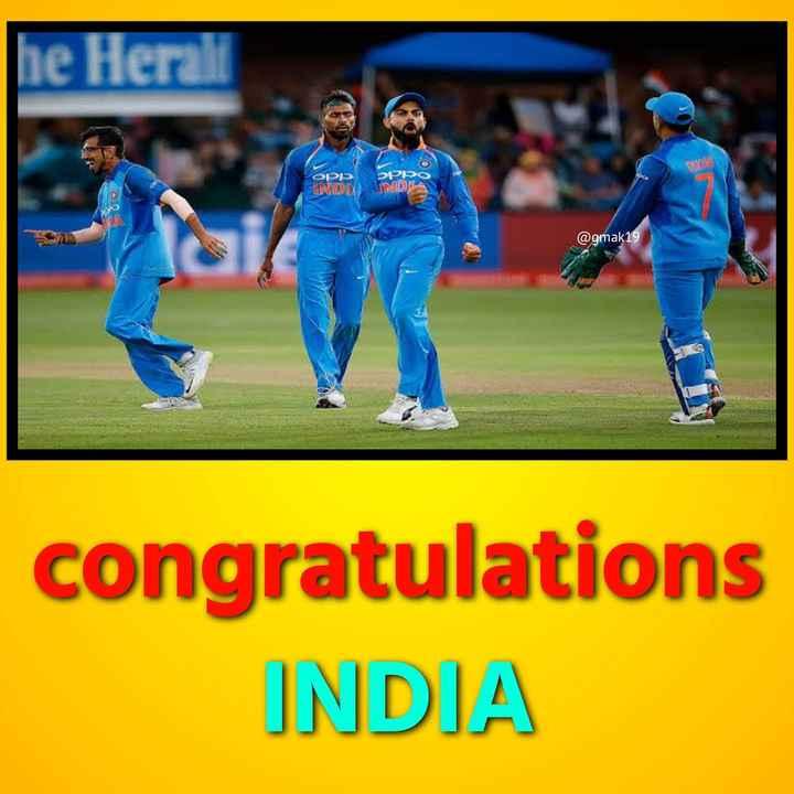 ভারত বনাম অস্ট্রেলিয়া - he Herall OPP EPDO URDAINDA @ gmak19 congratulations INDIA - ShareChat
