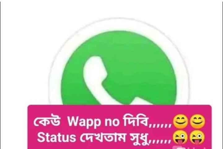😝মজাদার স্ট্যাটাস - কেউ Wapp no দিবি , m৩৩ Status দেখতাম সুধু ২৩ ২৪ - ShareChat