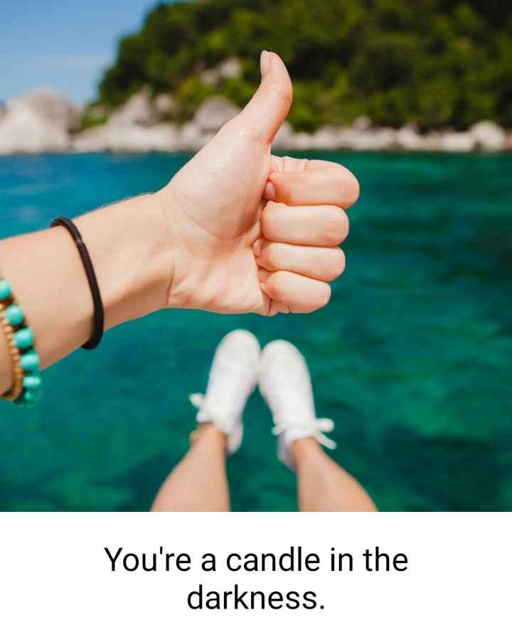 😝মজাদার স্ট্যাটাস - You ' re a candle in the darkness . - ShareChat