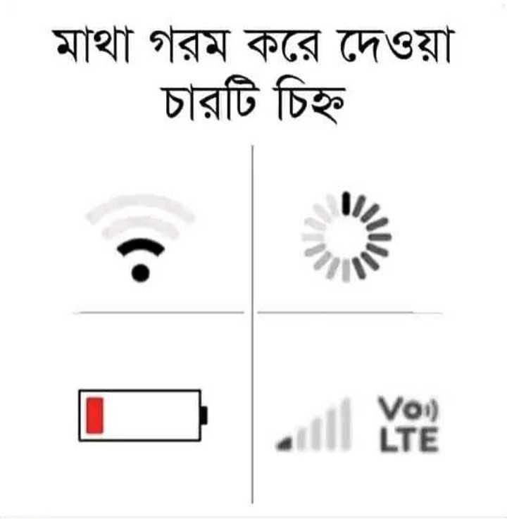 😅রাজনৈতিক ট্রল - মাথা গরম করে দেওয়া চারটি চিহ্ন Voi ) LTE - ShareChat