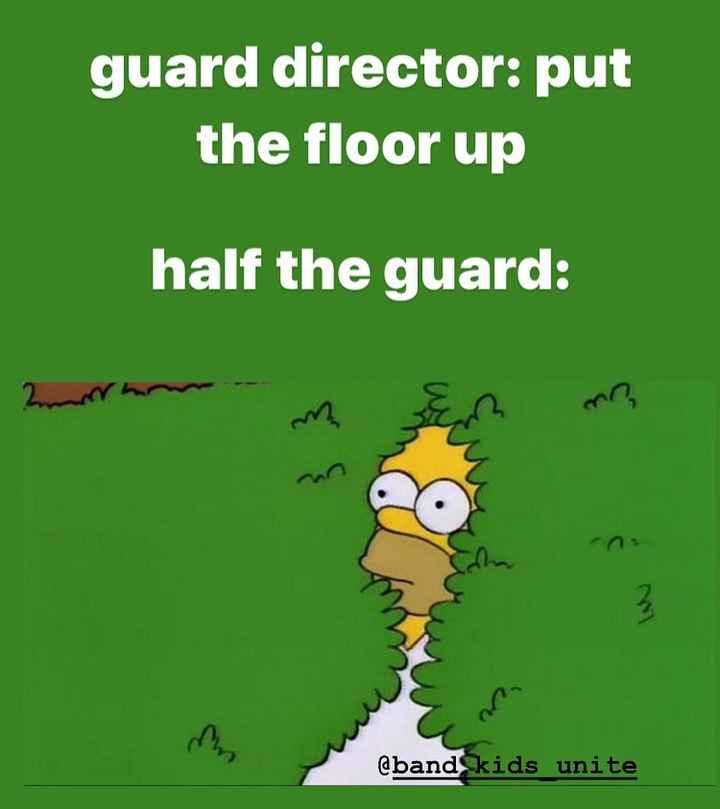 শীতের MEMES😂 - guard director : put the floor up half the guard : @ band kids unite - ShareChat