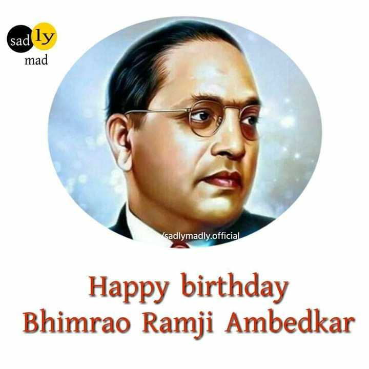 শুভ আম্বেদকর জয়ন্তী - sad ly mad sadlymadly . official Happy birthday Bhimrao Ramji Ambedkar - ShareChat
