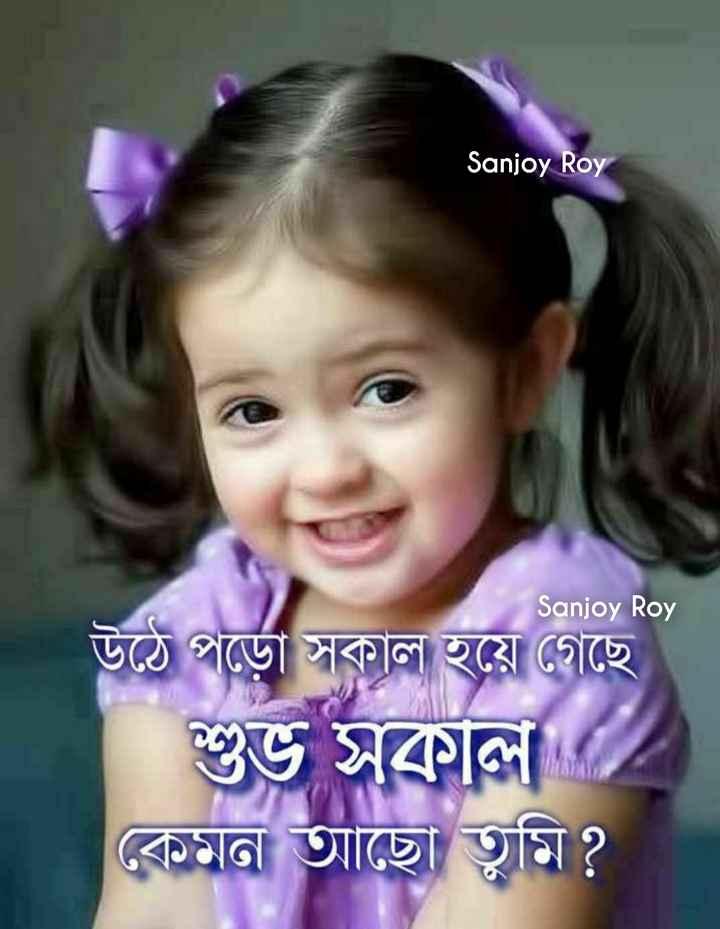 🙌শুভকামনা - Sanjoy Roy Sanjoy Roy উঠে পড়াে সকাল হয়ে গেছে । শুভ সকাল ) কেমন আছো তুমি ? - ShareChat