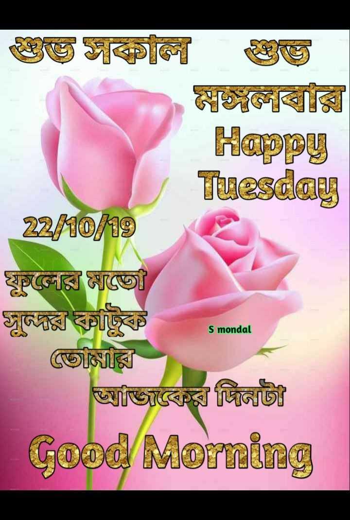 🙌শুভকামনা - Happy Tuesday @ @ ] স্কুলের সঙ্গে জুঞ্জের টুকট S mondal s monda আজ্জিাকের ডিউটি Good Morning - ShareChat