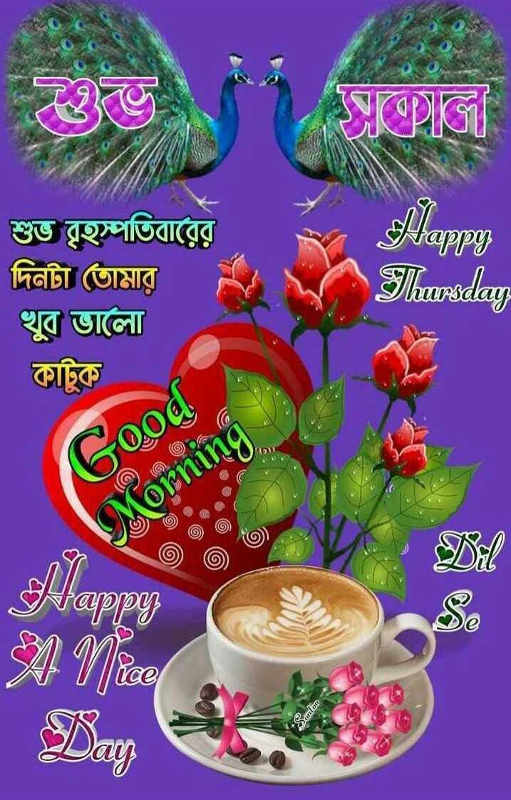 🙌শুভকামনা - বোলে । শুভ বৃহস্পতিবারের দিনটা তােমার খুব ভালাে কাটুক Jappy Thursday Good Morning : and op - ShareChat
