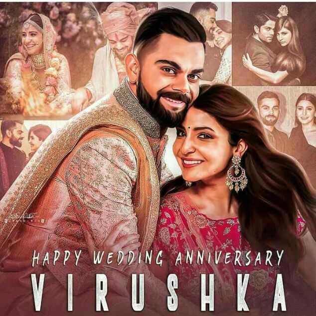 🙌শুভকামনা - HAPPY WEDDING ANNIVERSARY VIRUSHKA - ShareChat