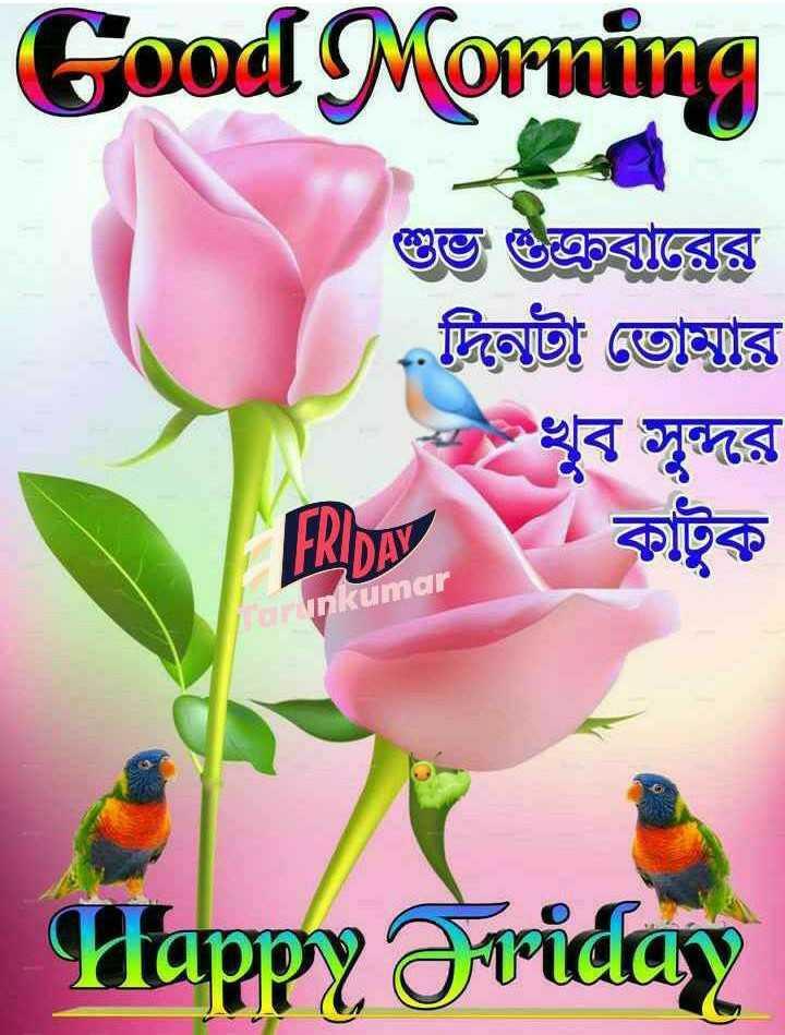 🙌শুভকামনা - Good Morning শুভ শুক্রবারের দিনটা তােমার খুব সুন্দর FOpy কাটুক Grunkumar Happy Friday - ShareChat