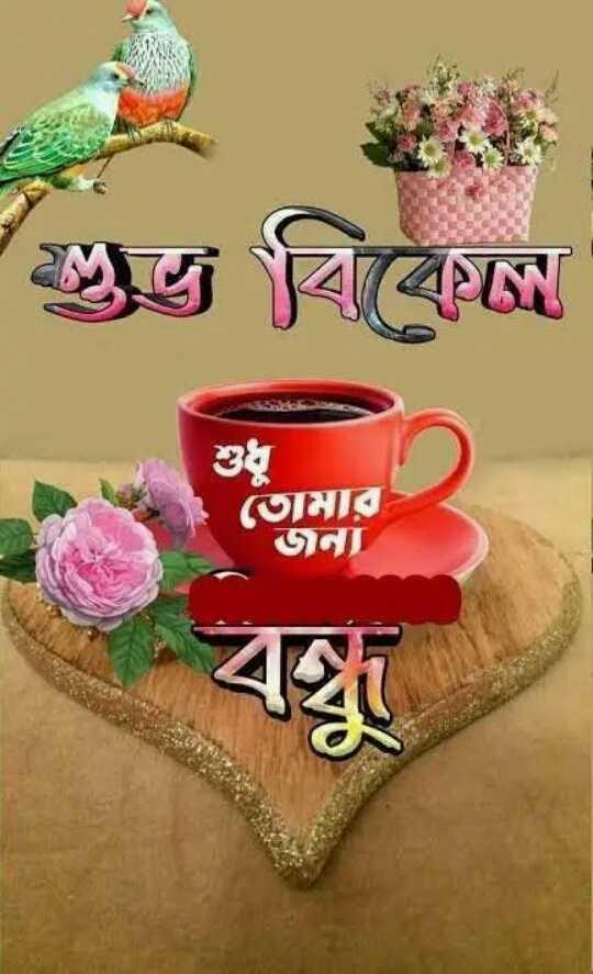 🙌শুভকামনা - ও বিকেলে শুধু তােমার AA - ShareChat