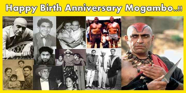 শুভজন্মদিন আম্রিশ পুরি - Happy Birth Anniversary Mogambo . . ! ! - ShareChat