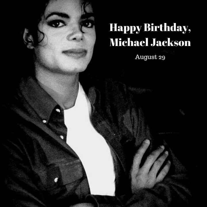 শুভ জন্মদিন মাইকেল জ্যাকসন 🕺🏻 - Happy Birthday , Michael Jackson August 29 - ShareChat