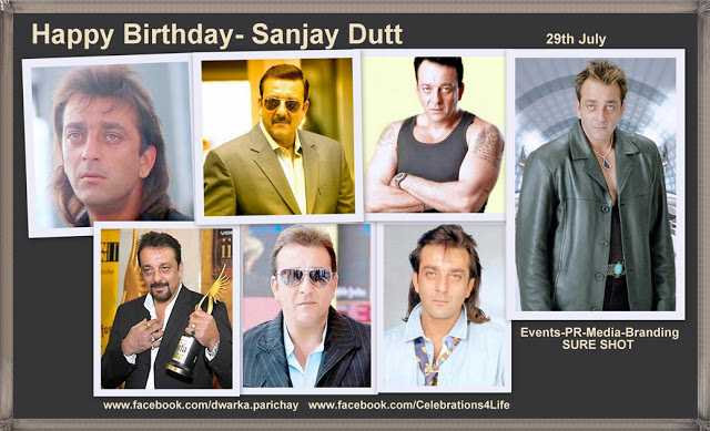 শুভ জন্মদিন সঞ্জয় দত্ত  🎂 - Happy Birthday - Sanjay Dutt 29th July Events - PR - Media - Branding SURE SHOT www . facebook . com / dwarka . parichay www . facebook . com / Celebrations4Life - ShareChat