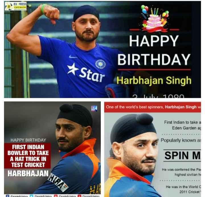 শুভ জন্মদিন হরভজন সিঙ  🎂 - EX PRESS CARWASH HAPPY BIRTHDAY TE * ste BIRTHDAY * Star Star Harbhajan Singh Om 1000 One of the world ' s best spinners , Harbhajan Singh w First Indian to take a Eden Garden ag Popularly known a : HAPPY BIRTHDAY FIRST INDIAN BOWLER TO TAKE A HAT TRICK IN TEST CRICKET HARBHAJAN SPIN M He was conferred the Pa highest civilian hi He was in the World 2011 Cricket f / People & History People & History People & History People & History - ShareChat