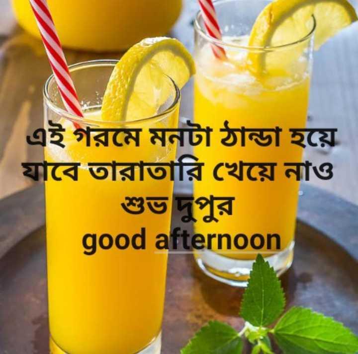 🌝শুভ দুপুর - এই গরমে মনটা ঠান্ডা হয়ে যাবে তারাতারি খেয়ে নাও good afternoon - ShareChat