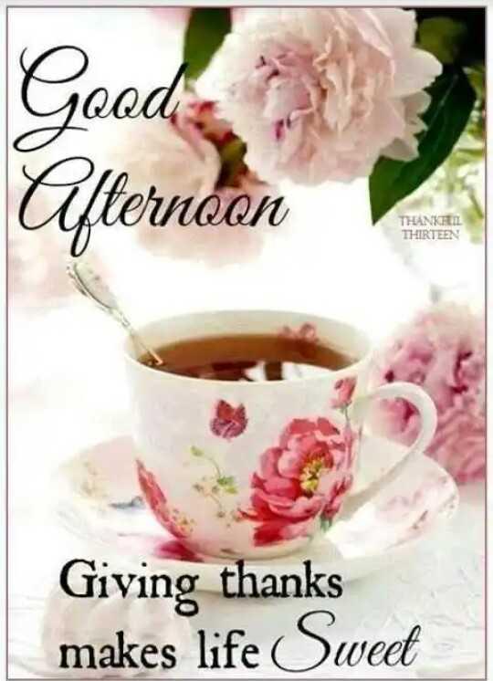 🌝শুভ দুপুর - Afternoon THANKS THIRTEEN Giving thanks makes life Sweet - ShareChat