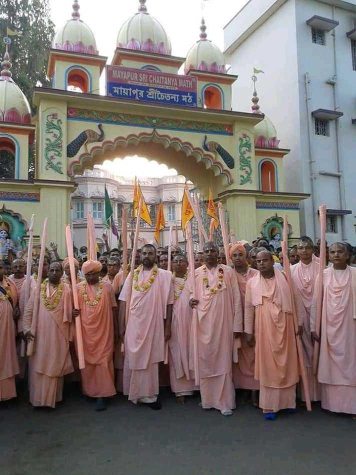 শুভ দোলযাত্রা - MAYAPUR SRI CHAITANYA MATH মায়াপুর শ্রীচৈতন্য মঠ । ANOS - ShareChat