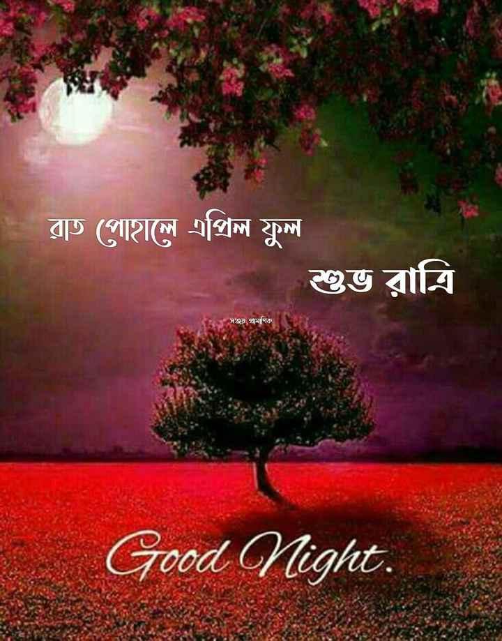 🌑শুভ রাত্রি - রাত পােহালে এপ্রিল ফুল শুভ রাত্রি সঞ্জয় প্রামাণিক E Good Night . - ShareChat