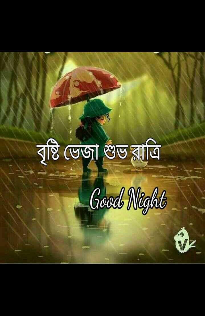 🌑শুভ রাত্রি - বৃষ্টি ভেজা শুভ রাত্রি Good Night - ShareChat