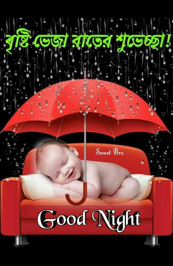 🌑শুভ রাত্রি - বৃষ্টি ভেজা রাতের শুভেচ্ছা ! Sweet Bro Good Night - ShareChat