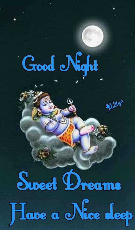 🌑শুভ রাত্রি - Good Night SAditya Sweet Dreams Have a Nice deep - ShareChat