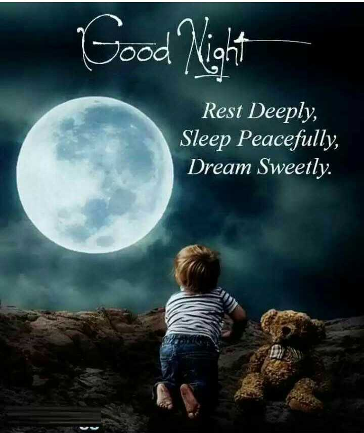 🌑শুভ রাত্রি - Good Night Rest Deeply , Sleep Peacefully , Dream Sweetly . - ShareChat