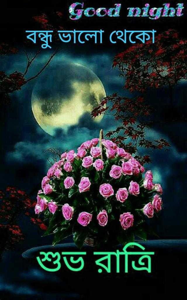 🌑শুভ রাত্রি - Good night বন্ধু ভালাে থেকো শুভ রাত্রি - ShareChat