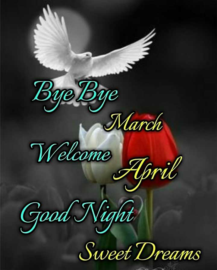 🌑শুভ রাত্রি - Bye Bye March Welcome April Good Night Sweet Dreams - ShareChat