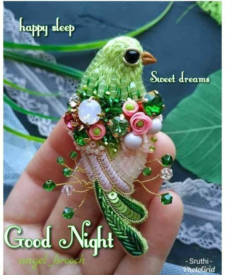 🌑শুভ রাত্রি - happy sleep Sweet dreams Good Night - angel _ brooch - Sruthi - PhotoGrid - ShareChat