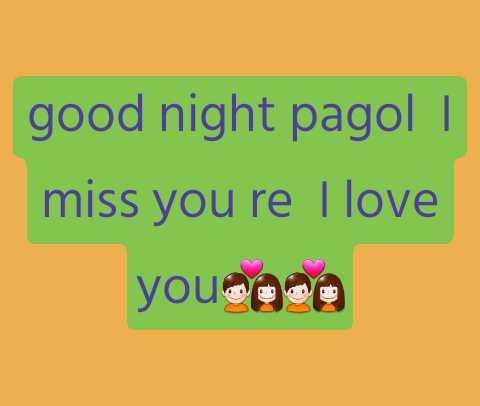 🌑শুভ রাত্রি - good night pagol     miss you re I love youcoca - ShareChat