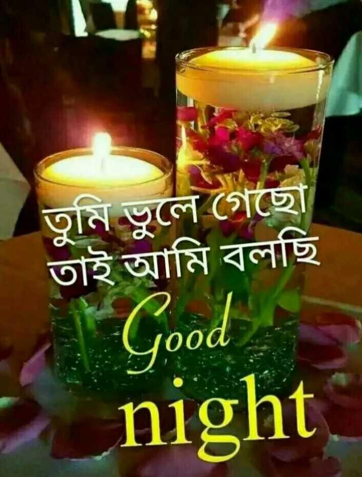 🌑শুভ রাত্রি - তুমি ভুলে গেছাে তাই আমি বলছি Good Good night - ShareChat