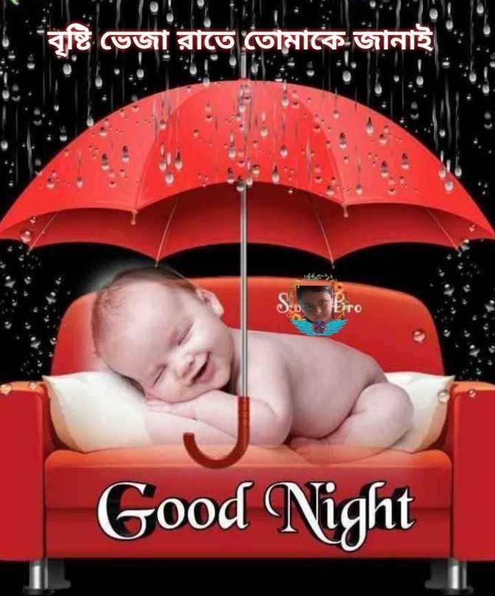 🌑শুভ রাত্রি - বৃষ্টি ভেজা রাতে তােমাকে জানাই Good Night - ShareChat